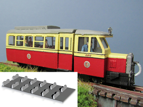 Railcar Interior (Part R-2) in Black Natural Versatile Plastic
