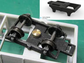 Part R-4 Railcar Bogie  in Black Strong & Flexible
