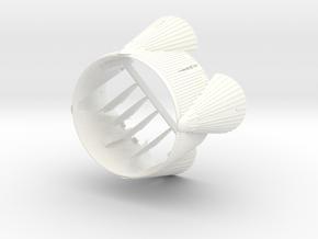 1/100 Sat V 1st Stage base W/flight-size fins in White Processed Versatile Plastic