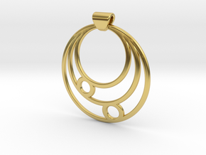 Celestial Circles in Polished Brass