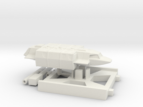 Squad Shuttle, X-Wing Base (V, The Visitors) 1/270 in White Strong & Flexible