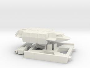 Squad Shuttle, X-Wing Base (V, The Visitors) 1/270 in White Natural Versatile Plastic