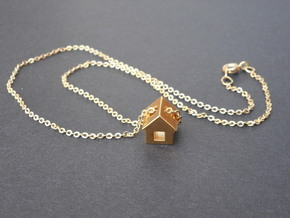 Tiny House Pendant in 18k Gold Plated