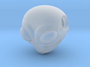 Reversible Alien head pendant in Smooth Fine Detail Plastic
