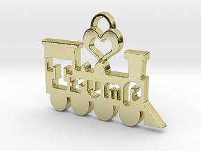 Trump Train Victory Pendant in 18k Gold