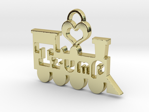 Trump Train Victory Pendant in 18k Gold Plated Brass