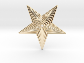 0563 Motion Of Points Around Circle (5cm) #040 in 14K Yellow Gold