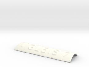 GLEIS 7 mit Pfeil nach oben in White Processed Versatile Plastic