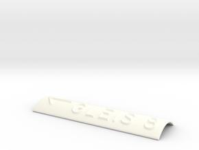 GLEIS 8 mit Pfeil nach links in White Processed Versatile Plastic