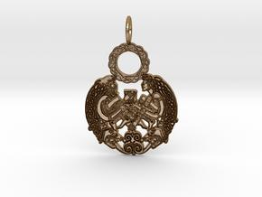 Celtic Pendant in Polished Gold Steel