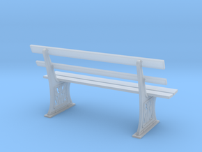 GWR Bench 7mm scale O gauge in Frosted Ultra Detail