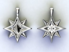 Southern cross Stars in Polished Nickel Steel