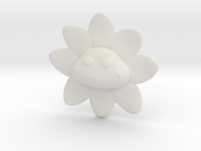 Flower Smile in White Natural Versatile Plastic