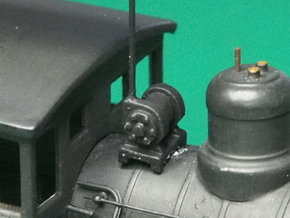 HO scale Turbo Generator for steam locos x12 in Smooth Fine Detail Plastic