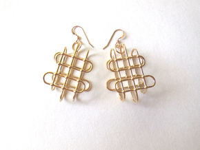 Jungle Gym -- Precious Metal Earrings in Polished Brass
