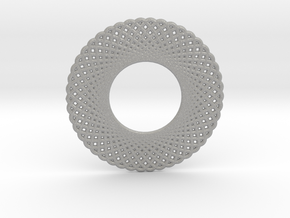 0568 Double Rotation Of Point (5 cm) #003 in Aluminum