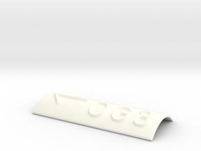 OG 3 mit Pfeil nach links in White Processed Versatile Plastic
