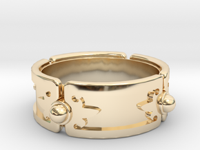 Meteorite Brace ver.1 in 14k Gold Plated Brass