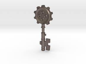 Key Of Clock Tower ver.1 in Polished Bronzed Silver Steel