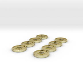 7mm Coins (Type2), x8 in 18k Gold
