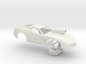 1/12 2014 Pro Mod Corvette in White Natural Versatile Plastic