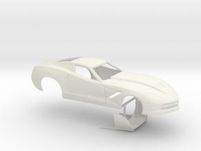 1/12 2014 Pro Mod Corvette No Scoop in White Strong & Flexible