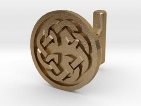 Fatherhood  Celtic cufflinks in Polished Gold Steel