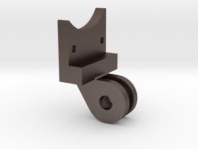 Backbone to gopro mount Adapter in Polished Bronzed Silver Steel