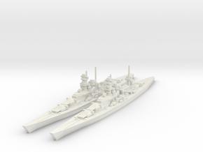 Scharnhorst and Gneisenau 1/2400 in White Natural Versatile Plastic