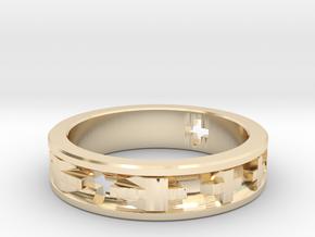 Swiss Cross in 14K Yellow Gold: 2.75 / 43.375