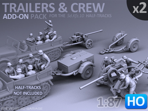 Trailers & Crew : Add-on (2 pack) - 1:87 - HO in Frosted Ultra Detail