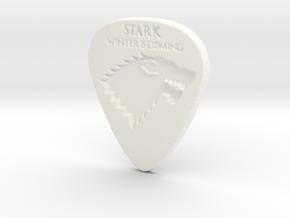Game of Thrones Stark Guitar Pick in White Processed Versatile Plastic
