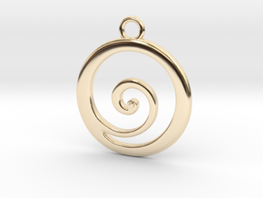 Koru Pendant in 14k Gold Plated Brass