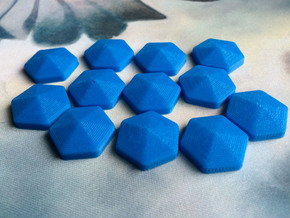 Mana Crystals (batch of 5) in Blue Processed Versatile Plastic