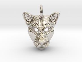 Lioness Pendant in Platinum