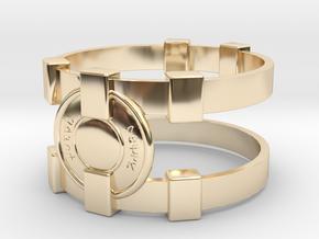 Brainy Bracer ver.1 in 14k Gold Plated Brass