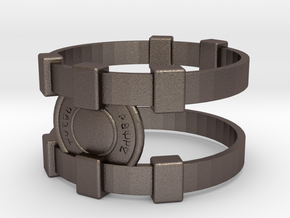 Brainy Bracer ver.2 in Polished Bronzed Silver Steel