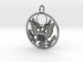 Eagle's Eye in Polished Silver