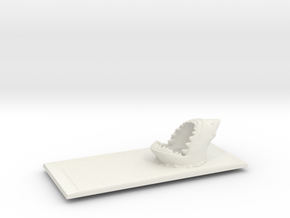 Shark  Seafood sushi plate in White Natural Versatile Plastic