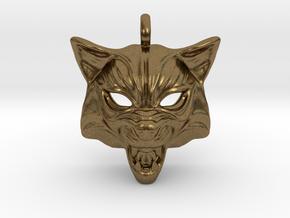 Fox type 2 Pendant in Natural Bronze