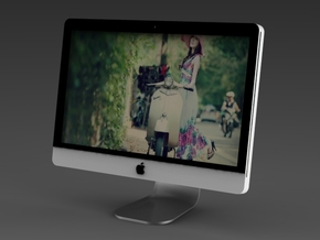 Apple iMac GR - Portrait in White Natural Versatile Plastic
