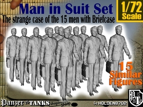 1/72 Man In Suit W/ Briefcase Set in Frosted Ultra Detail