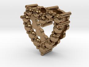 "Pendentif Heart, small ""diamonds"" in Natural Brass"