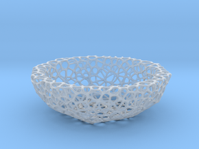 Key shell / bowl (11,5 cm) - Voronoi-Style #2 in Smooth Fine Detail Plastic