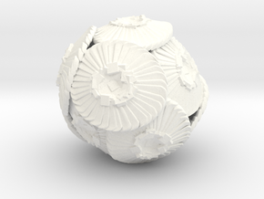 Coccolithus Sculpture 10cm - Science Gift in White Processed Versatile Plastic