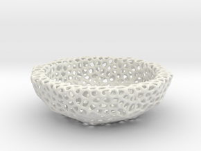 Bowl (19 cm) - Voronoi-Style #6 in White Natural Versatile Plastic