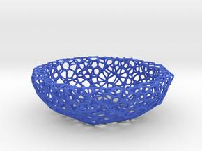 Little Bowl (15 cm) - Voronoi-Style #5 in Blue Processed Versatile Plastic