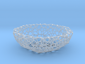 Mini Key shell / bowl (8 cm) - Voronoi-Style #1 in Smooth Fine Detail Plastic