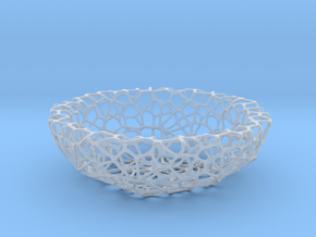 Mini shell / bowl (6 cm) - Voronoi-Style #1 in Smooth Fine Detail Plastic