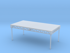 1:48 Steeldeck 8x4 with legs in Smooth Fine Detail Plastic